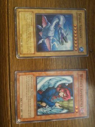 ×2 yugioh cards Spiral serpent & Witche's apprentice