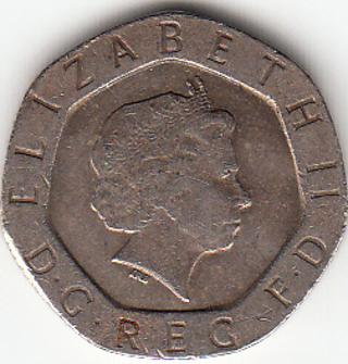Great Britain 20 Pence 1998
