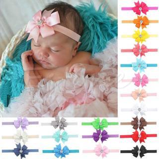 10X Newborn Baby Gir Bow Hair Band  Headband Infant Toddler Girls Accessories