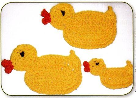 Free Crochet Pattern Little Yellow Ducks Coasters Or Appliques