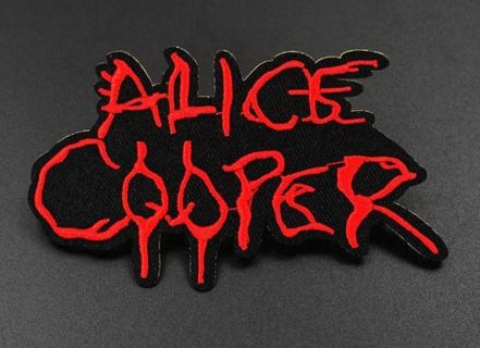 Alice Cooper 1970s Iconic Rock Iron on Hippie Collectible Canvas Backpack Jacket Shirt Pants Patch