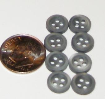 8 sage grey tiny tiny green buttons