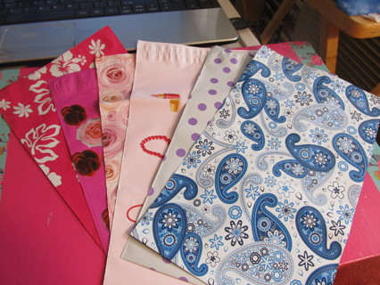 """7  BRAND NEW  DIFFERENT STYLES  POLY MAILER 6""""X9"""""""