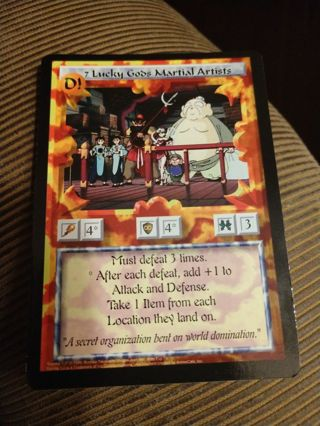 Ani-Mayhem Card - 7 Lucky Gods Martial Artists
