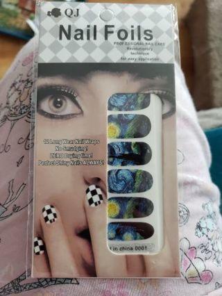 Nail wraps! Starry night