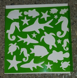STENCILS FISH SEAHORSE TURTLE SHARK STARFISH