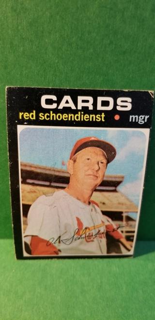 1971 - TOPPS EXMT - NRMT BASEBALL - CARD NO. 238 - RED SCHOENDIENST - CARDINALS