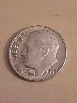1964 Silver Roosevelt Dime