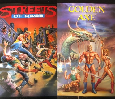 Streets of Rage / Golden Axe Double-Sided Poster - Sega Genesis