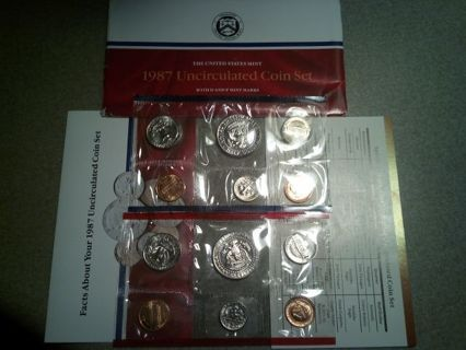 DON'S DAILY DEAL. 1987 US MINT SET. WITH ORIGINAL GOVT PACKING..SUPER SWEET
