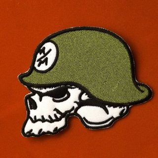 1 skull moto iron on patch dirtbike patch free shipping