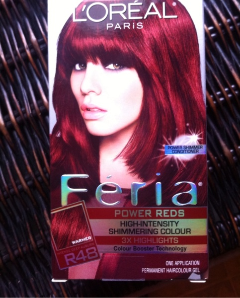 Free Loreal Feria Power Reds Red Velvet R48 Hair