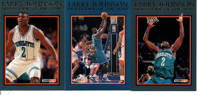 Free 1992 93 Fleer Larry Johnson Nba Rookie Of The Year