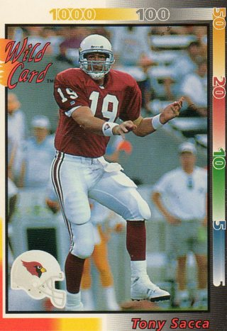 Free: 1992 NFL Football Card of CARDINALS QB TONY SACCA - Sports Trading Card...