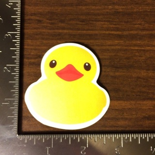 Rubber Ducky Glossy Vinyl Sticker Decal (011)