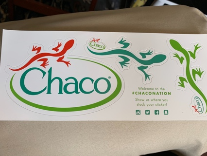 CHACO ~ Premium Footwear for the Outdoor-Minded ~ 3 Lizard Stickers