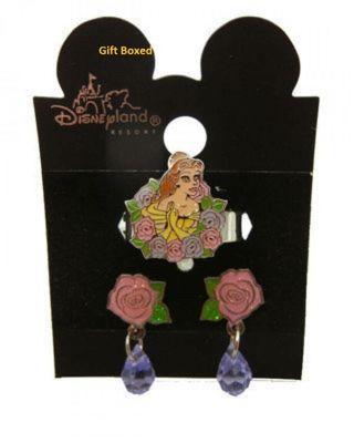 Disney belle earring ring set 2 pc NWT