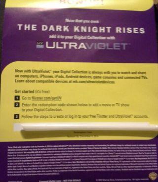 The Dark Knight Rises Ultraviolet Code