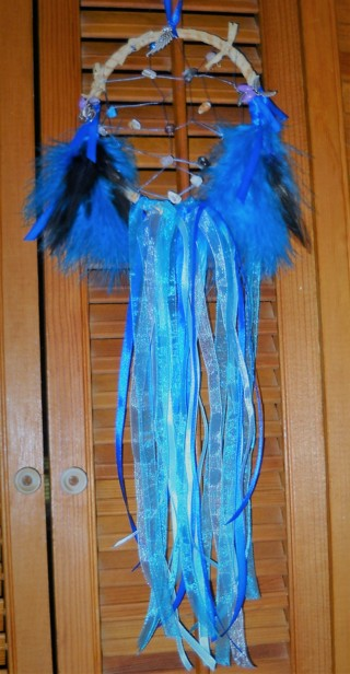 Shades of Blue Dream Catcher