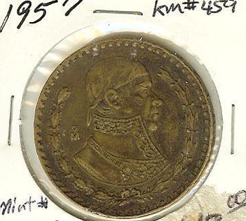 Mexico 1957 Un peso, special commemorative coin!