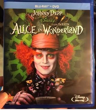 Alice in wonderland blu ray/dvd set (NO DMR/DIGITAL COPY)