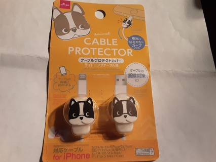 IPhone Cable Protectors Dog NIP