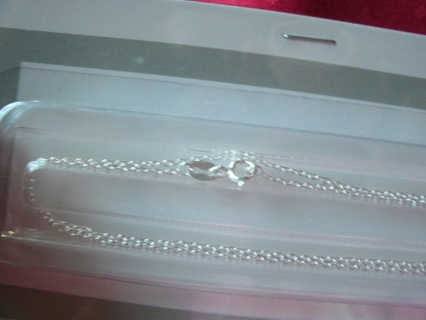 "TWO Genuine Sterling Silver Chain Necklaces 18"" New"
