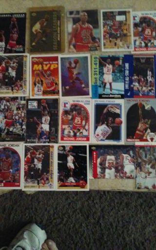 37 Michael Jordan card lot