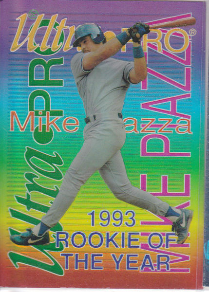 Free 1994 Rembrant Ultra Pro Mike Piazza Rookie Of The Year