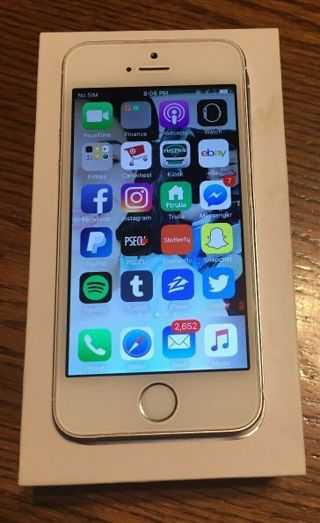 Apple iphone 5s silver 16gb factory unlocked