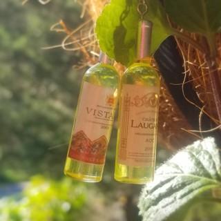 White wine resin bottles stud earrings New Free ship