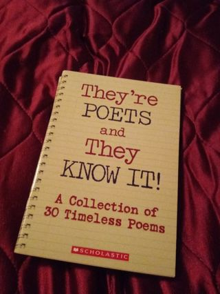 Used Children's Scholastic Book They're Poets and They Know It!