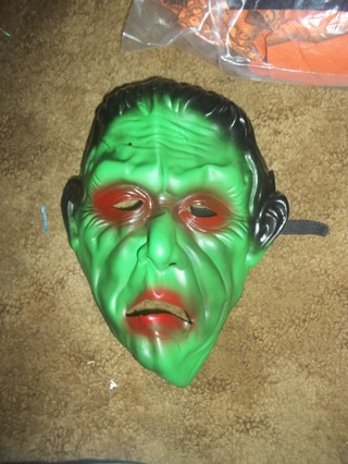 Scary green monster mask