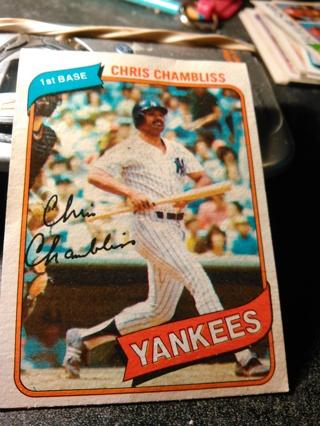 chris chamblis topps 1980