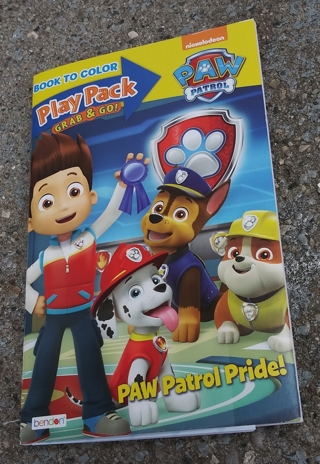 PAW PATROL SMALL COLORING BOOK WITH STICKERS USE YOUR OWN CRAYONS