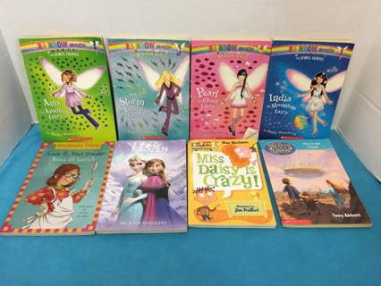 L467 LOT OF 8 STORYBOOKS FOR YOUNG GIRLS FAIRY FROZEN JUNIE B