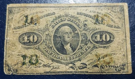 10 Cent Fractional Currency (1864-1869)