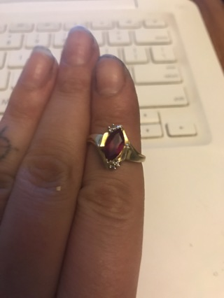 Size 8 10k Gold ruby ring!!!