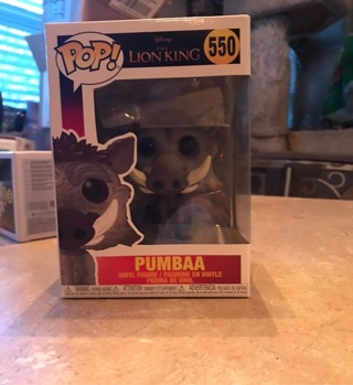 Pop Funko Pumbaa 550 Disney's the lion king