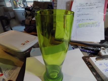 Green acrylic pilsner glass