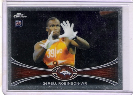 Gerell Robinson 2012 Topps Chrome #214 Rookie Card