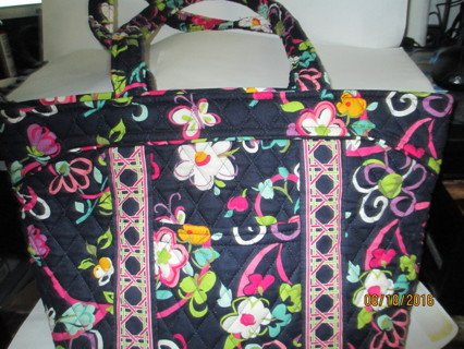 2-Vera Bradley Bags,1- Quick Change Diaper Bag Like New & 1-Black Jewelry/Makeup case