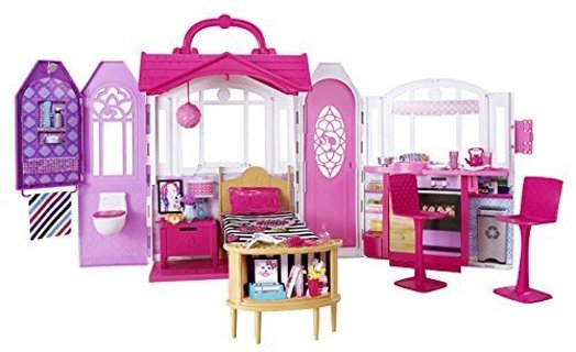 "❤~ WOW - BRAND NEW IN BOX - "" Barbie Glam Getaway House "" ~ Fully Furnished ~ ONLY 1 LISTED ~❤"