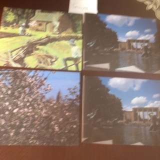 Four Blank Vintage Michigan Cards. # 03