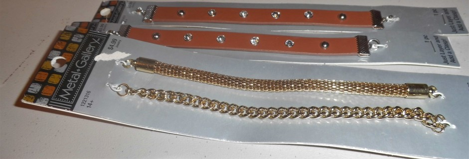 Bracelet Chains and Leather