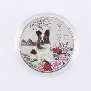 5pcs 2018 Year of The Dog Commemorative Collection Coin Craft