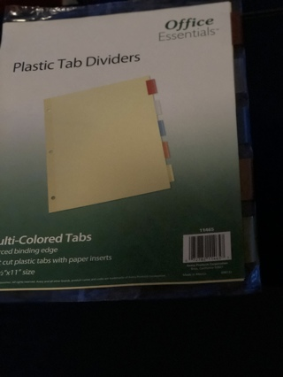 BNIP 5 Multi Colored Dividers For Class / School or Work