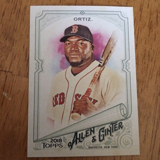 2018 Topps Allen & Ginter's - [Base] #106 David Ortiz