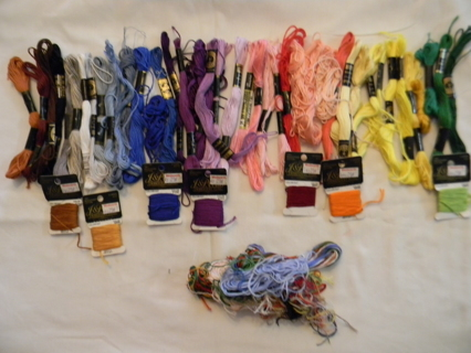 Embroidery Floss + Organizer 40+ Skeins! Free Ship!