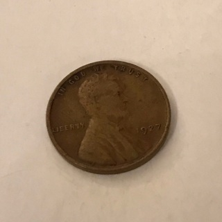 1927 Lincoln Cent Wheat Penny